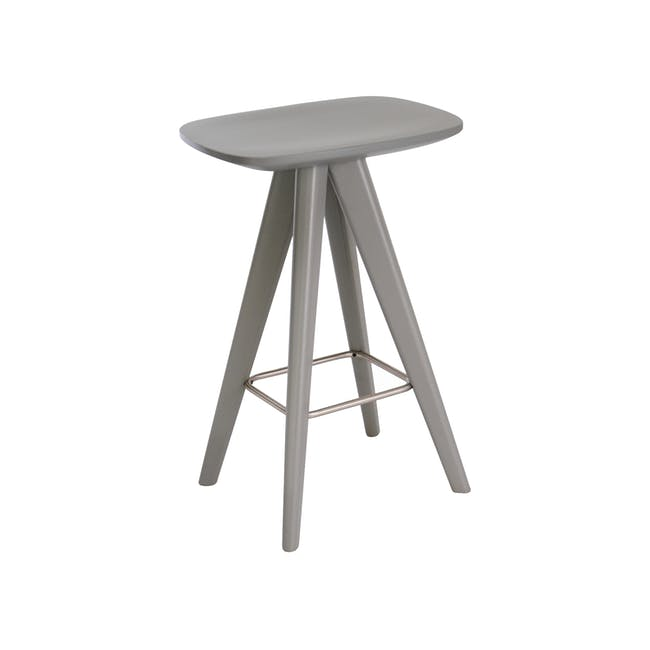 Freya Counter Stool - Grey Lacquered - 7