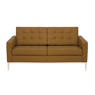 Florence Knoll Loveseat - Italian Leather - Image 1