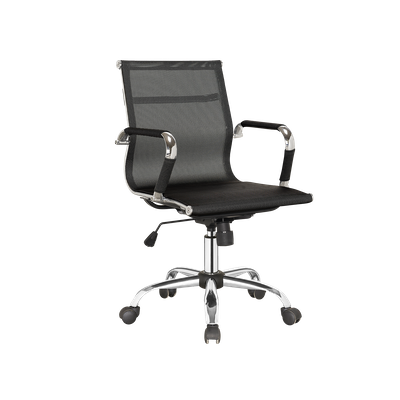 Eames Mid Back Mesh Office Chair - Black - Image 2
