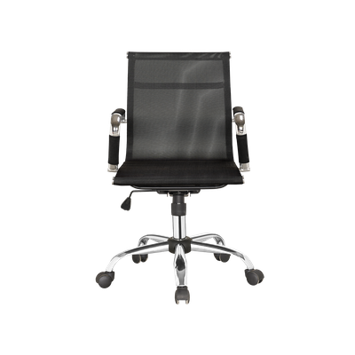 Eames Mid Back Mesh Office Chair - Black - Image 1