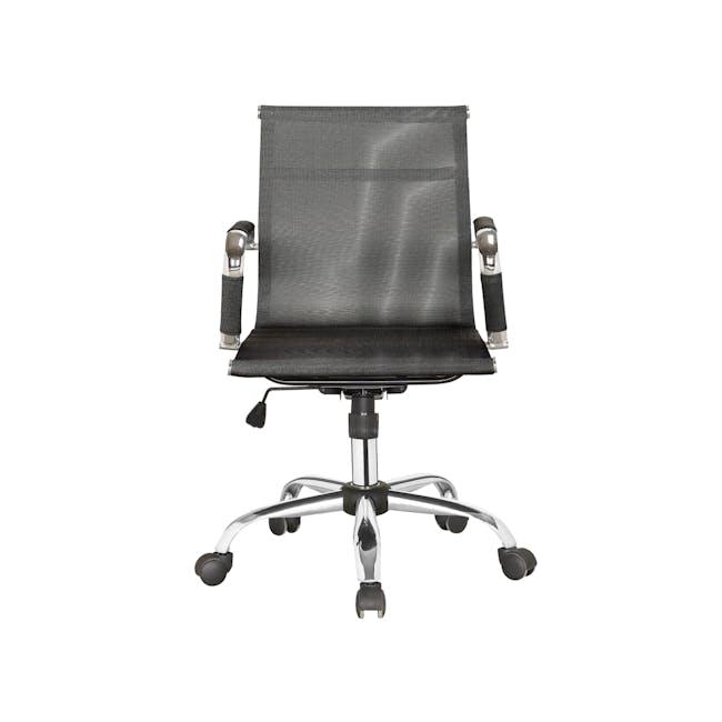 Eames Mid Back Mesh Office Chair Replica - Black - 0