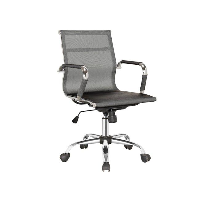 Eames Mid Back Mesh Office Chair Replica - Black - 3