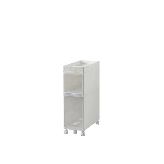 Krusty 2 Tier Rolling Storage Cabinet - 0