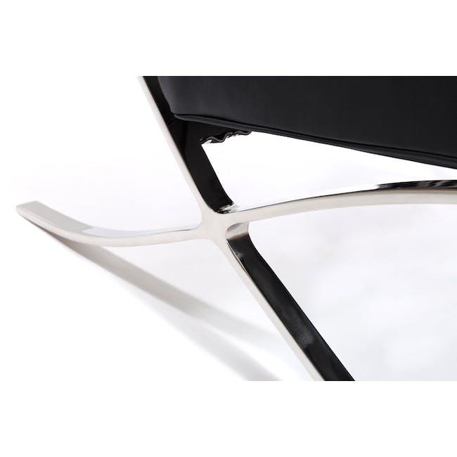 Barcelona 2 Seater Ottoman Replica - Black (Genuine Cowhide) - 4