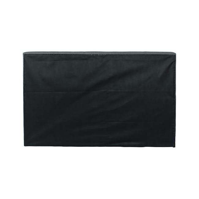 ESSENTIALS Queen Headboard Box Bed - Khaki (Fabric) - 4