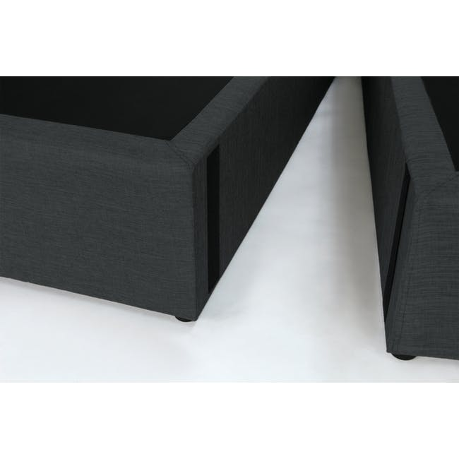 ESSENTIALS Super Single Headboard Box Bed - Khaki (Fabric) - 7