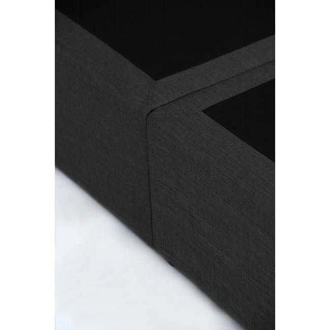 ESSENTIALS Queen Headboard Box Bed - Smoke (Fabric) - 8