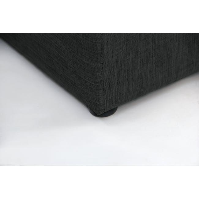 ESSENTIALS Queen Headboard Box Bed - Smoke (Fabric) - 9
