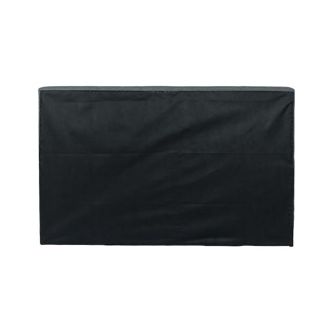 ESSENTIALS Queen Headboard Box Bed - Smoke (Fabric) - 4