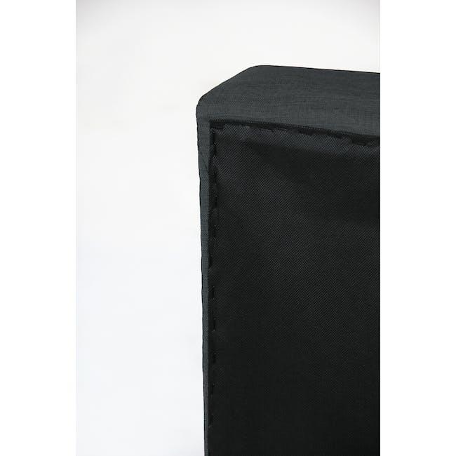 ESSENTIALS Queen Headboard Box Bed - Smoke (Fabric) - 6