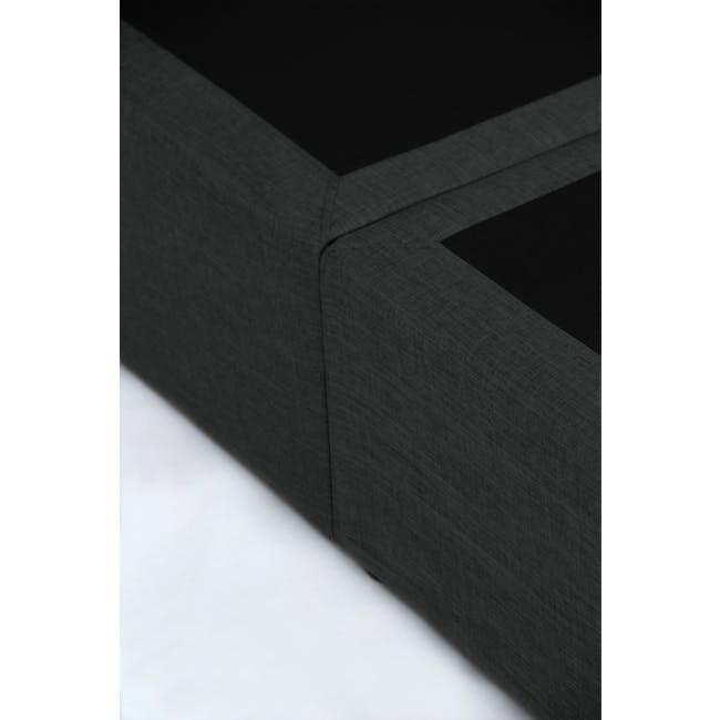 ESSENTIALS Single Headboard Box Bed - Smoke (Fabric) - 8