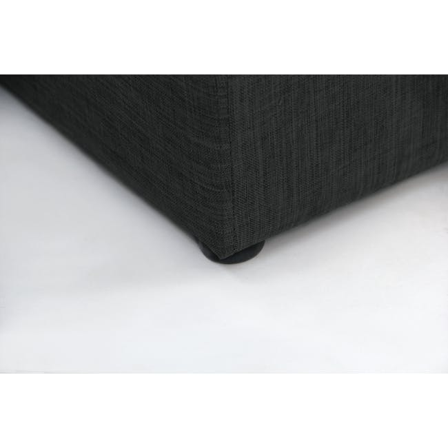 ESSENTIALS Single Headboard Box Bed - Smoke (Fabric) - 9