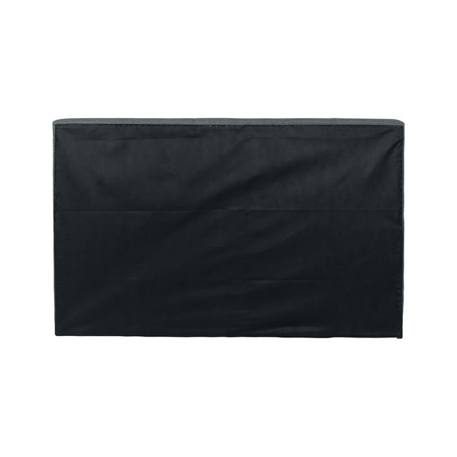 ESSENTIALS Single Headboard Box Bed - Smoke (Fabric) - 4