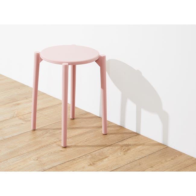 Olly Stackable Stool - Pink - 1