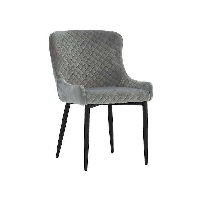 Tobias Dining Chair - Black, Silver (Velvet) - 0