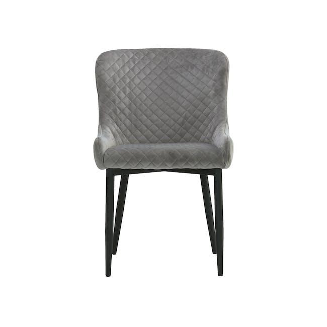 Tobias Dining Chair - Black, Silver (Velvet) - 1