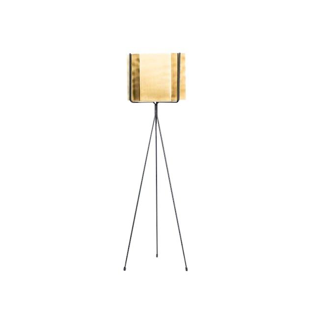 Logan Floor Planter - Brass - 0