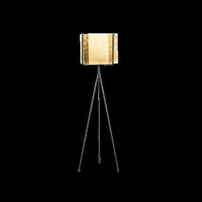 Logan Floor Planter - Brass - Image 1
