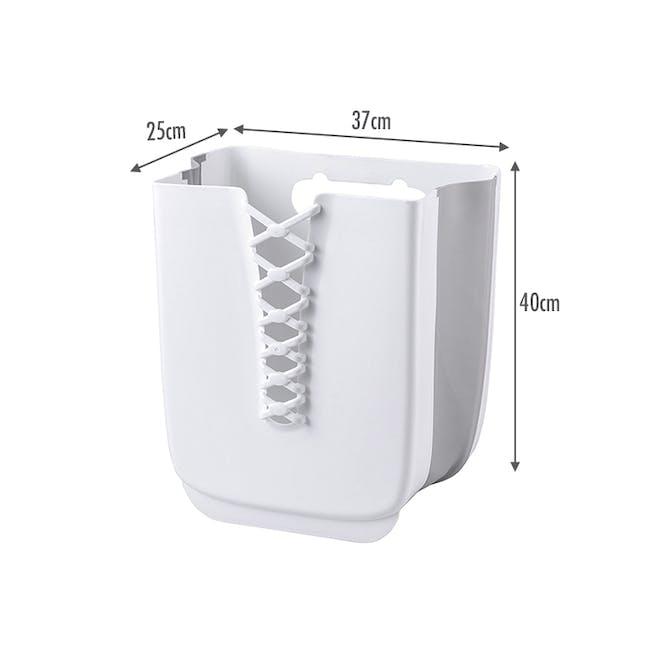 HOUZE Foldable Hanging Laundry Basket - White - 6