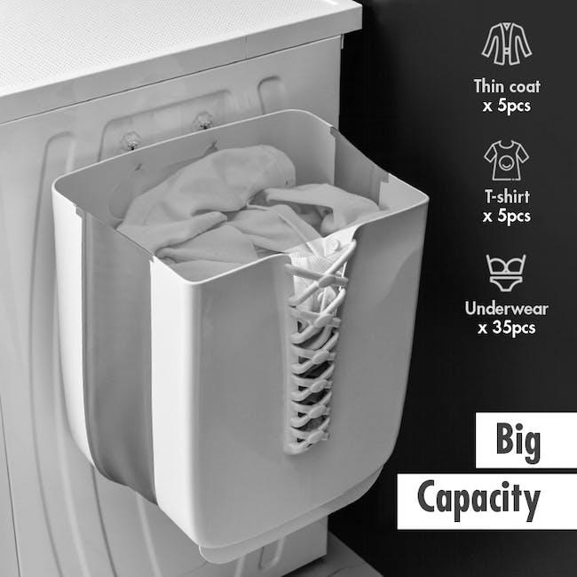 HOUZE Foldable Hanging Laundry Basket - White - 4