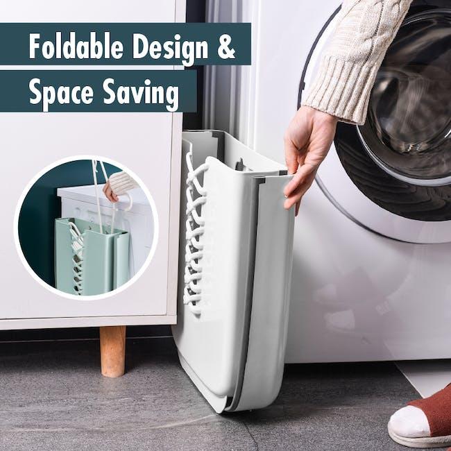HOUZE Foldable Hanging Laundry Basket - White - 5