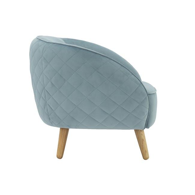 Braton Lounge Chair with Amos Round Ottoman - Jade (Velvet) - 2