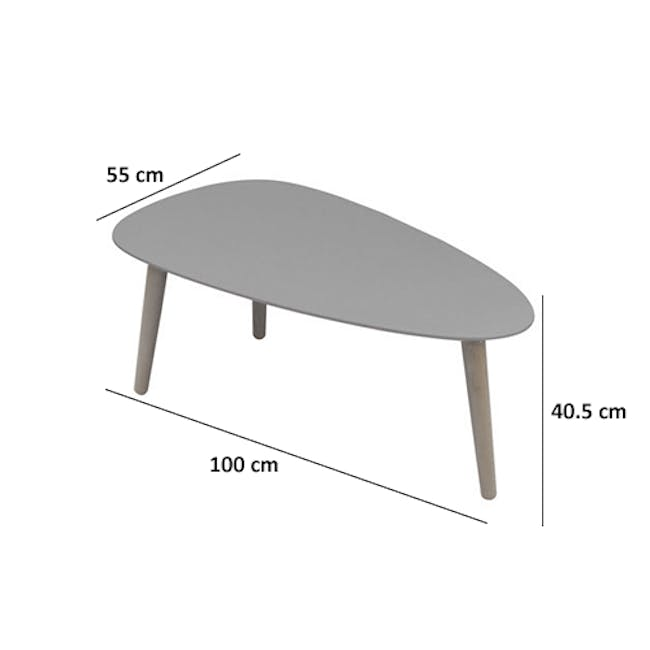 (As-is) Avery Coffee Table - Anthracite - 18 - 18