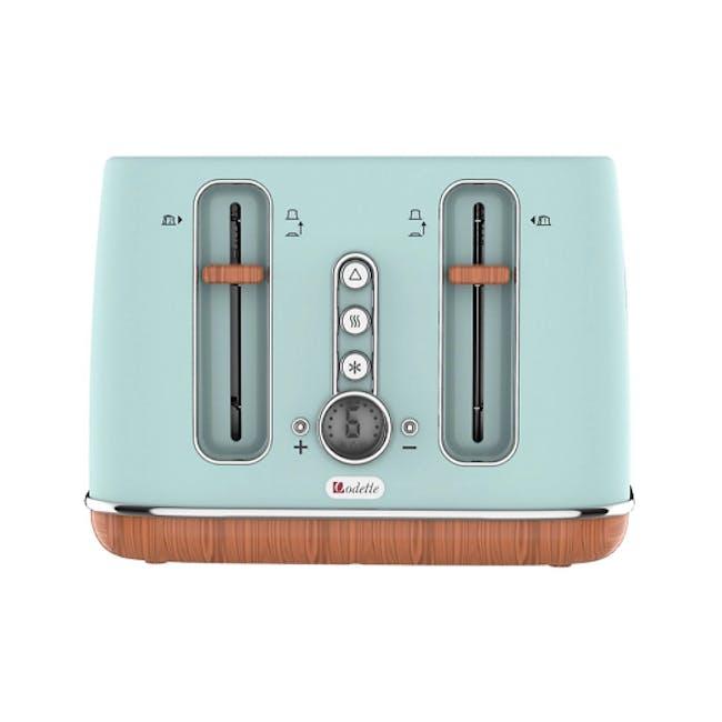 Odette Otto Series 4-Slice Bread Toaster - Light Green - 2