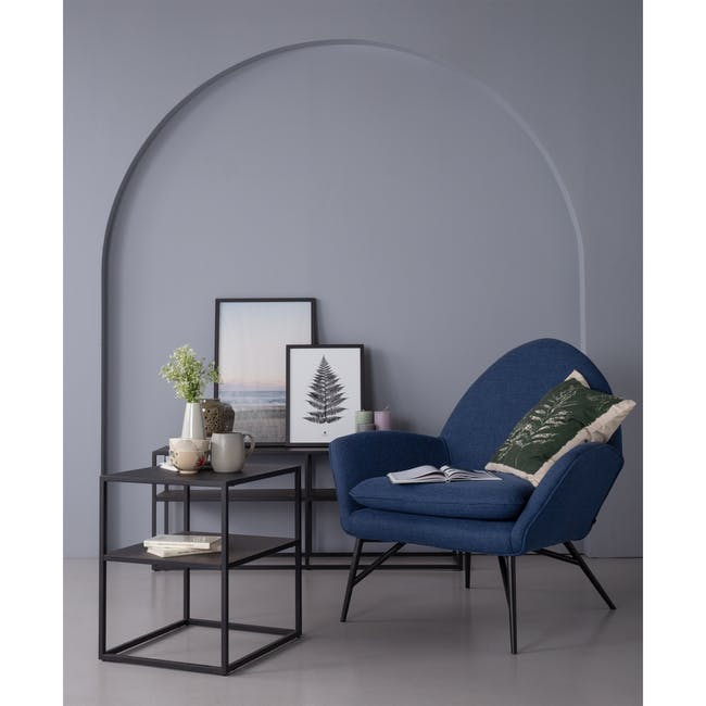 Esther Lounge Chair - Midnight Blue - 3