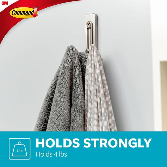 Command™ Satin Nickel Large Double Wire Hook - 3