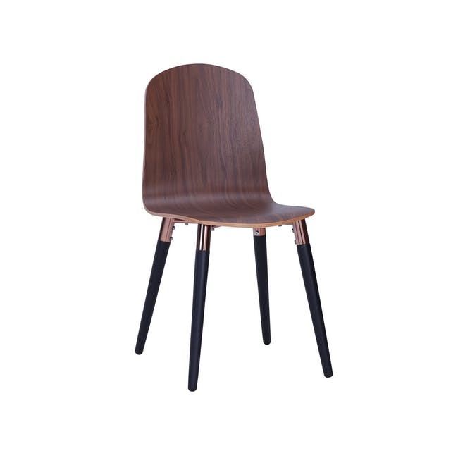 Jazz Dining Chair - Matt Black, Walnut - 2