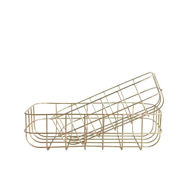 Diana Low Wire Basket - Brass (Set of 2) - 0