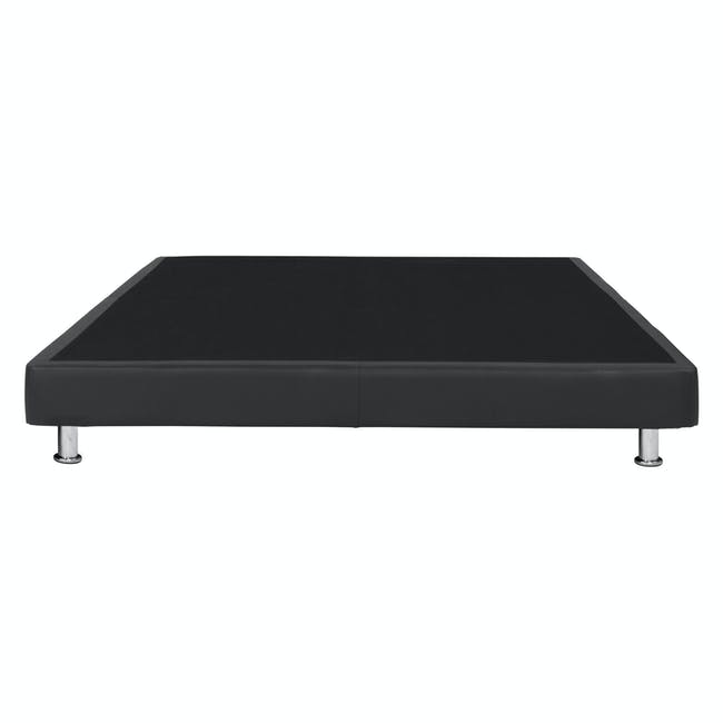 ESSENTIALS Queen Divan Bed - Black (Faux Leather) - 4