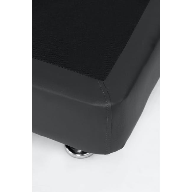 ESSENTIALS Single Divan Bed - Black (Faux Leather) - 5