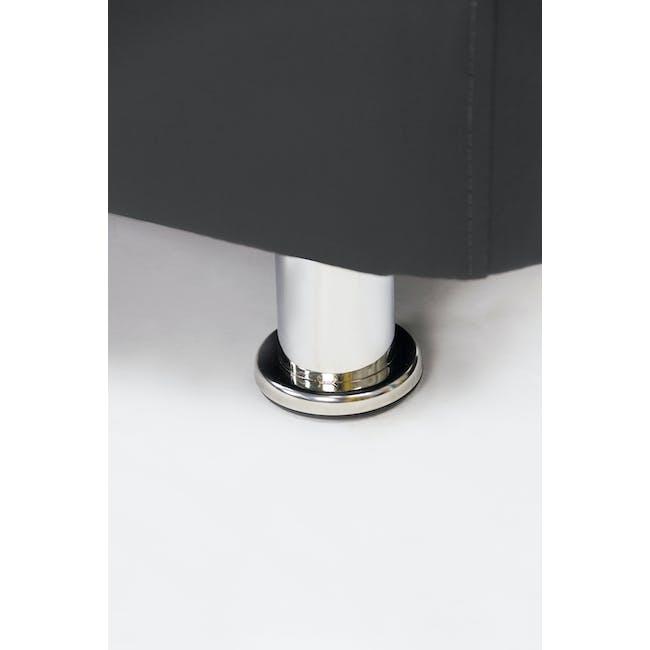 ESSENTIALS Single Divan Bed - Black (Faux Leather) - 6