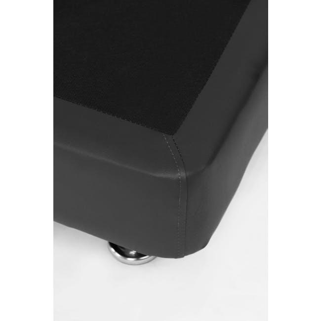 ESSENTIALS Super Single Divan Bed - Black (Faux Leather) - 5