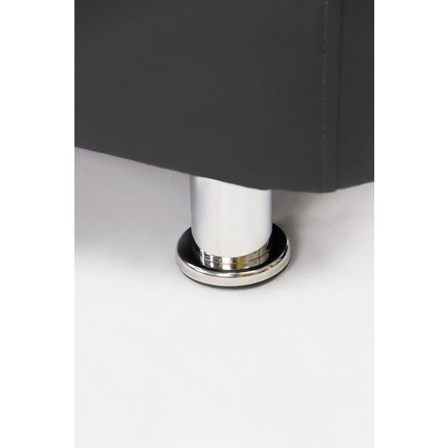 ESSENTIALS Super Single Divan Bed - Black (Faux Leather) - 6