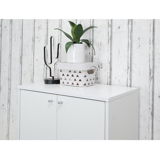 Penny Shoe Cabinet - White - 2