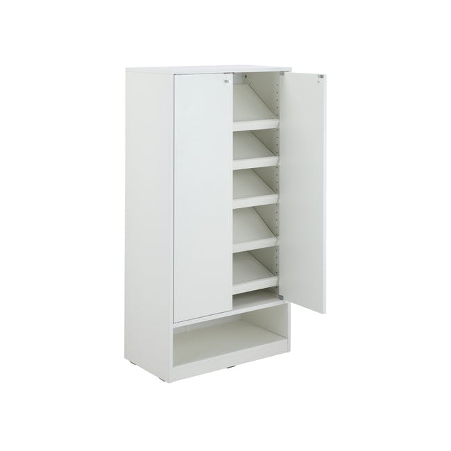 Penny Shoe Cabinet - White - 11
