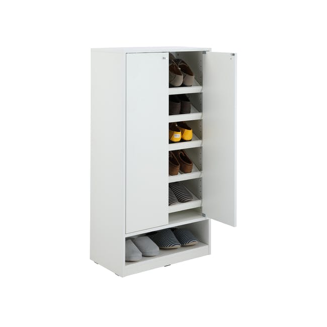 Penny Shoe Cabinet - White - 12