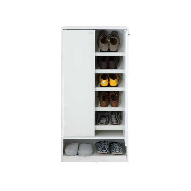 Penny Shoe Cabinet - White - 10