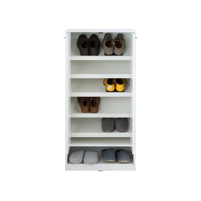 Penny Shoe Cabinet - White - 9