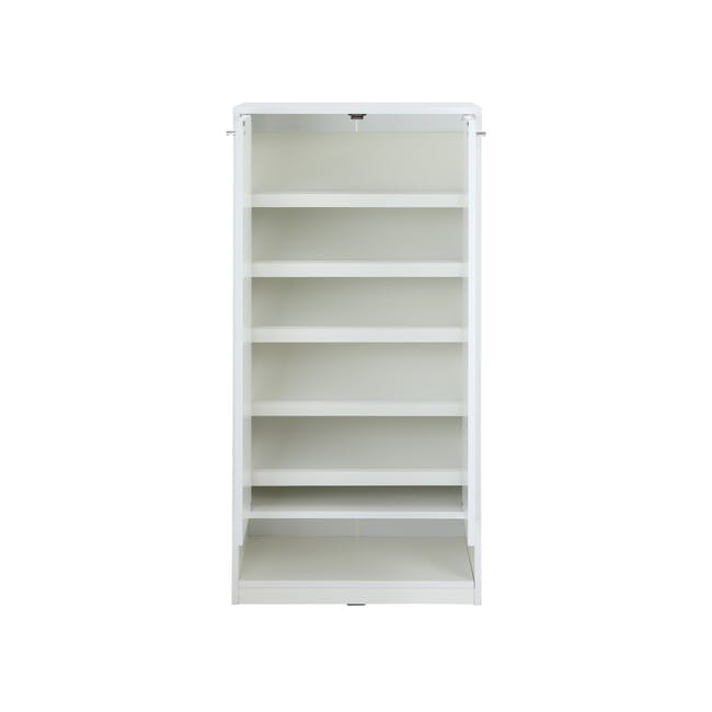 Penny Shoe Cabinet - White - 15