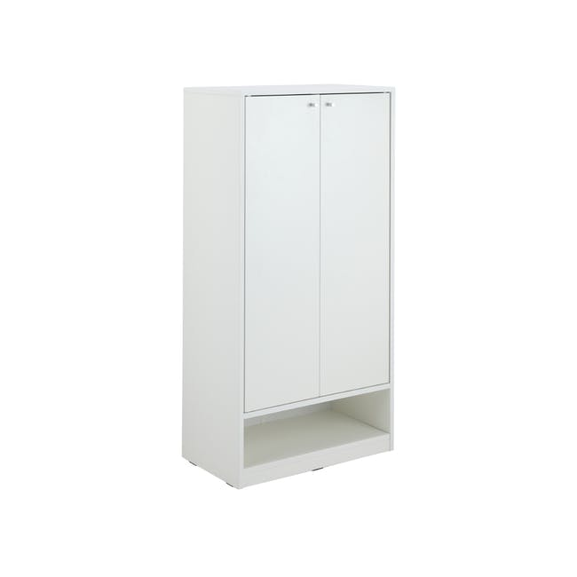 Penny Shoe Cabinet - White - 16