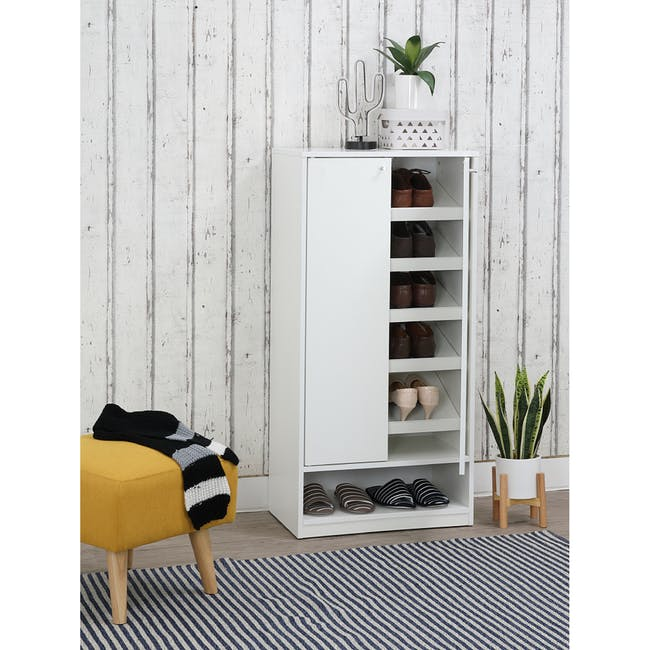 Penny Shoe Cabinet - White - 3