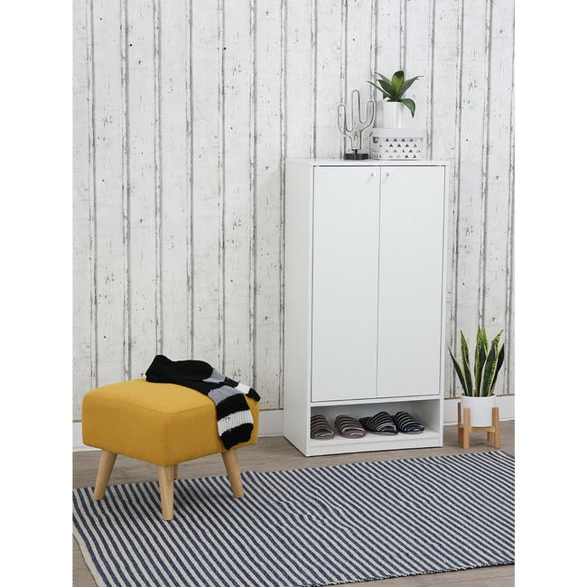 Penny Shoe Cabinet - White - 6