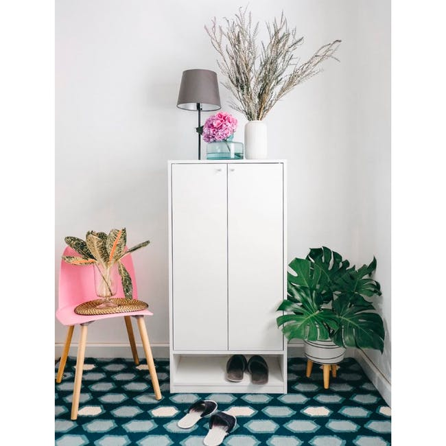 Penny Shoe Cabinet - White - 4