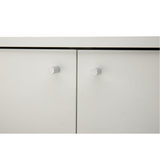 Penny Shoe Cabinet - White - 8