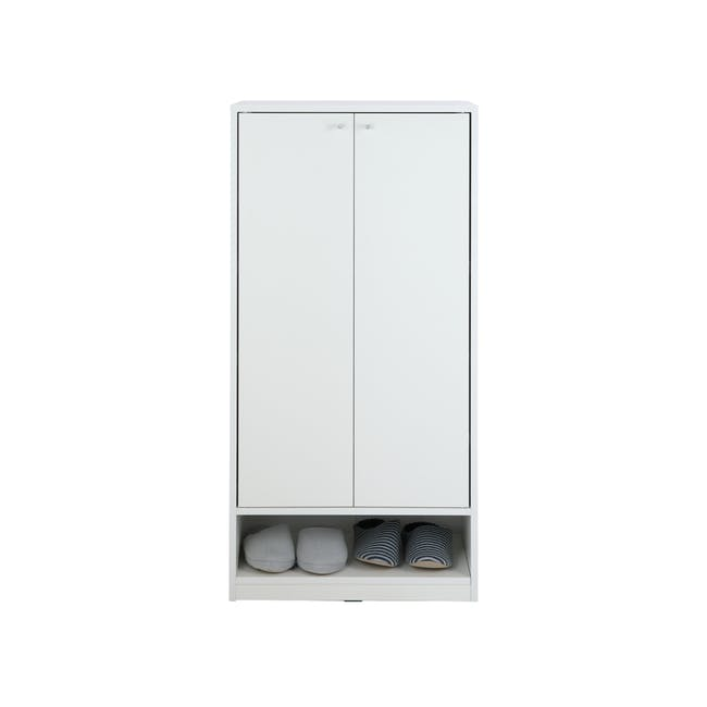 Penny Shoe Cabinet - White - 13