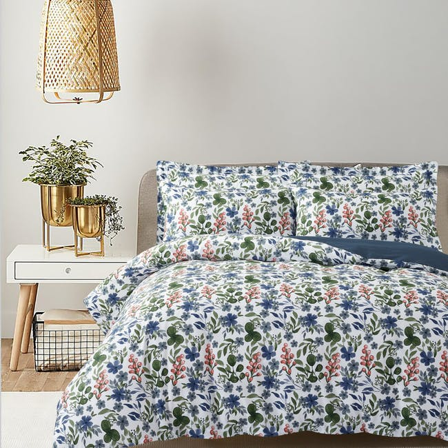 Marie Claire Lumine Cotton Printed Bed Set - Gloria (2 Sizes) - 0